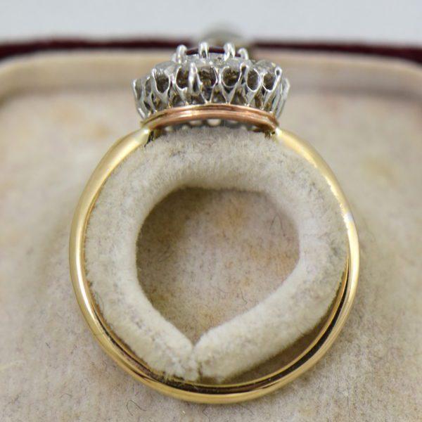 Victorian Ruby Rose Cut Diamond Halo Ring 4.JPG