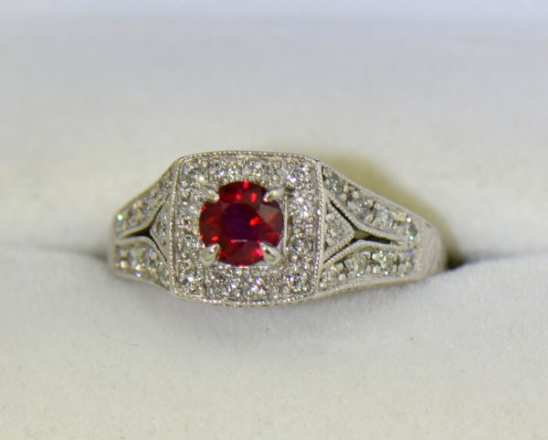 Vintage Style Halo Ruby Ring.JPG
