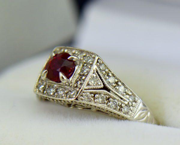 Vintage Style Halo Ruby Ring 2.JPG