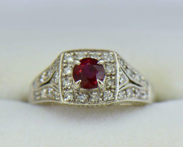 Vintage Style Halo Ruby Ring 3.JPG