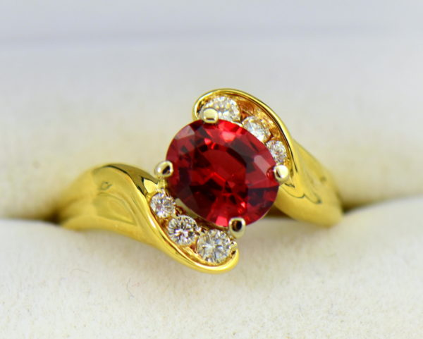 2ct Burmese Red Spinel in 18k yellow gold ring.JPG