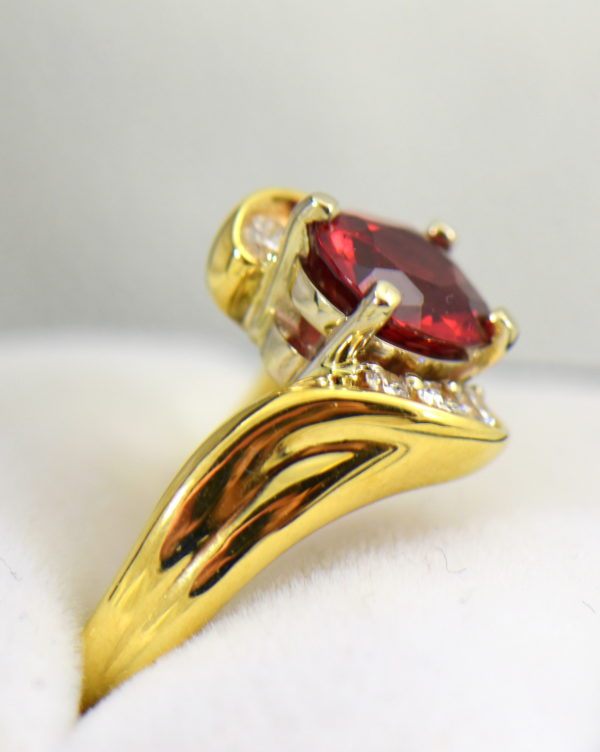 2ct Burmese Red Spinel in 18k yellow gold ring 2.JPG