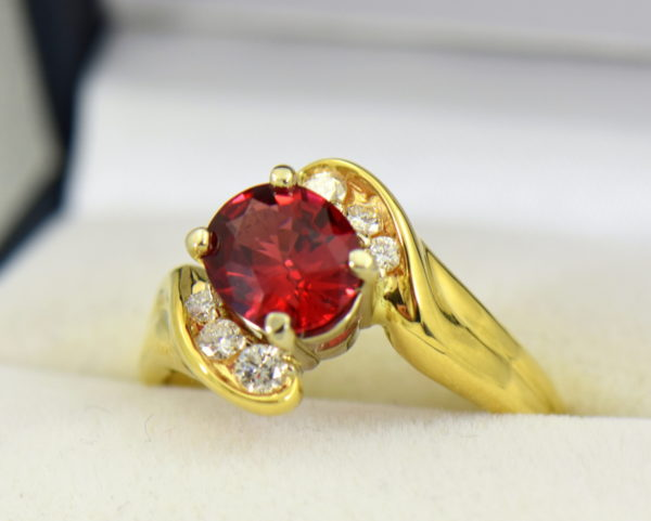2ct Burmese Red Spinel in 18k yellow gold ring 3.JPG