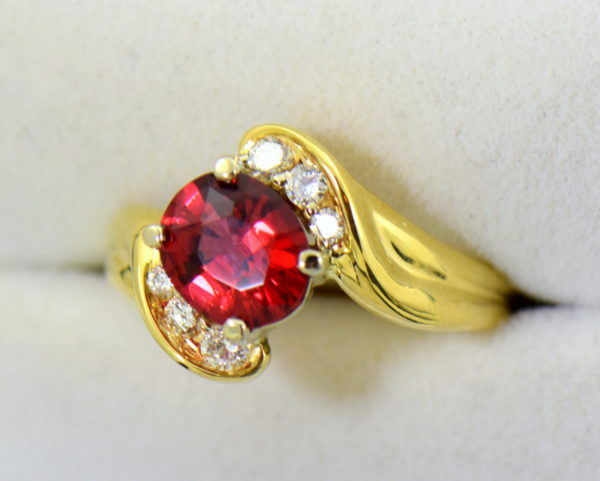2ct Burmese Red Spinel in 18k yellow gold ring 4.JPG