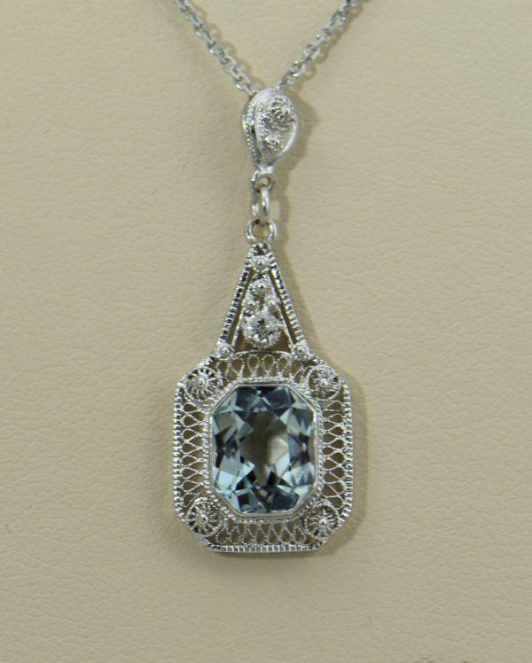 Filigre Art Deco Aquamarine Lavalier Pendant.JPG