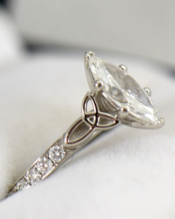 GIA 1.15ct F VS2 Marquise Diamond Ring in platinum with celtic details 2.JPG