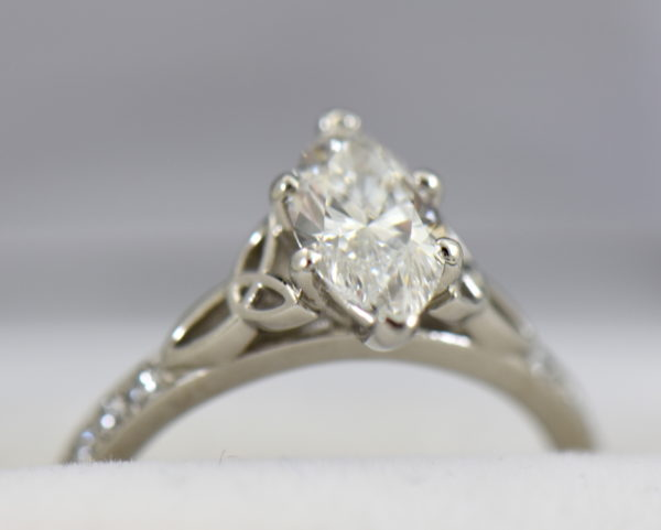 GIA 1.15ct F VS2 Marquise Diamond Ring in platinum with celtic details 4.JPG