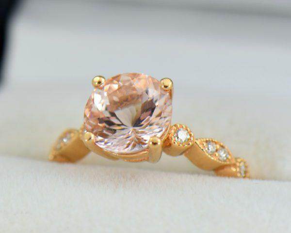18k rose gold round moissanite engagement ring 2.JPG