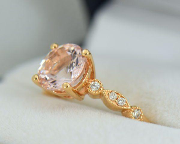 18k rose gold round moissanite engagement ring 3.JPG