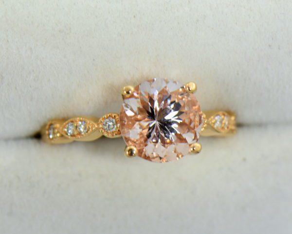 18k rose gold round moissanite engagement ring 4.JPG