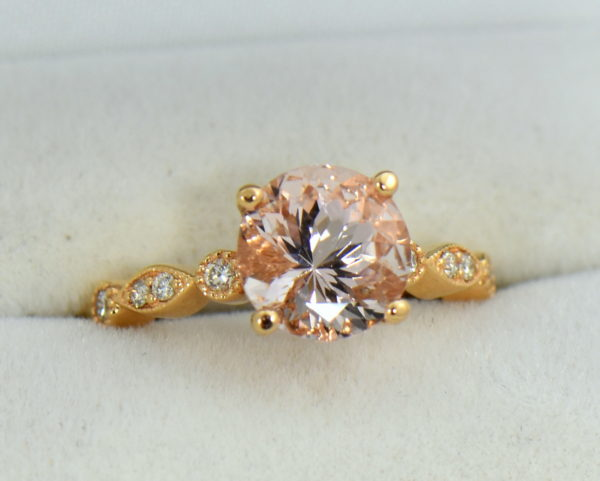 18k rose gold round moissanite engagement ring 5.JPG