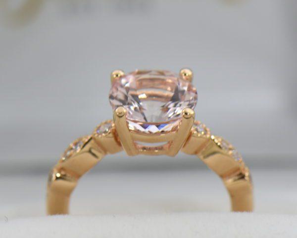 18k rose gold round moissanite engagement ring 6.JPG