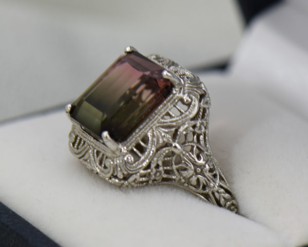 Deco Filigree Ring with Watermelon Tourmaline 2.JPG
