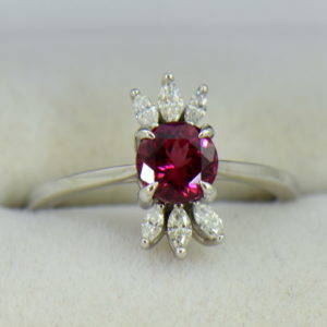 Round Rhodolite Marquise Diamond modern right hand ring 5.JPG
