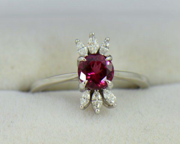 Round Rhodolite Marquise Diamond modern right hand ring 5.JPG