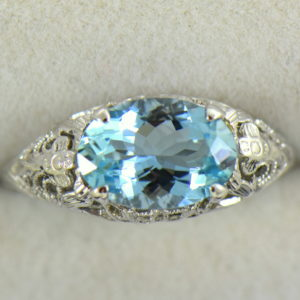 Deco Aquamarine Filigree Ring East West Setting 5.JPG