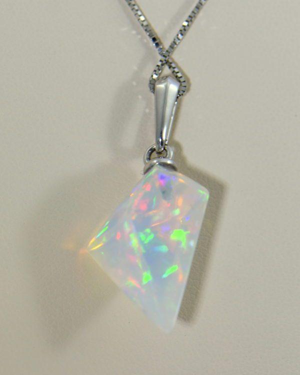 Freeform Crystal Opal Bead Pendant in White Gold 4.JPG