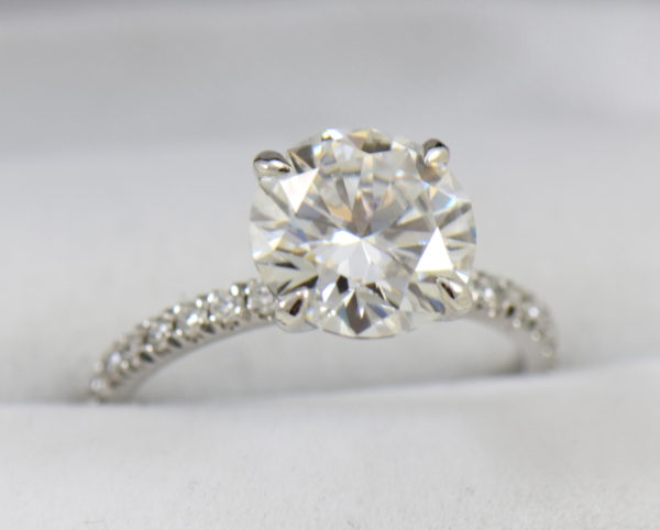 4ct moissanite solitaire engagement ring on thin diamond shank.JPG