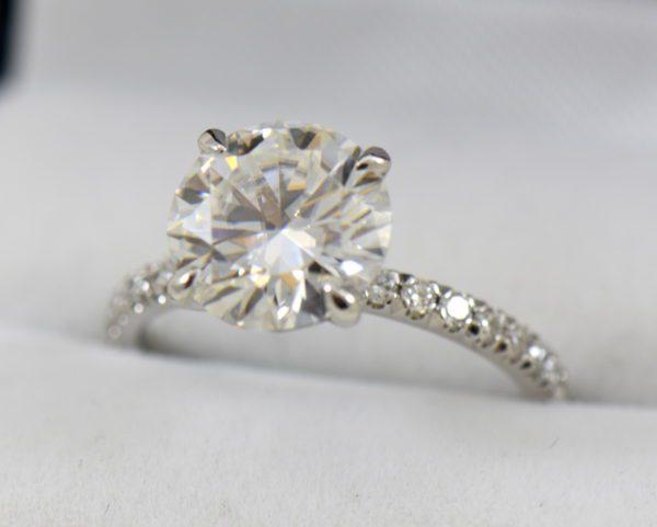 4ct moissanite solitaire engagement ring on thin diamond shank 2.JPG