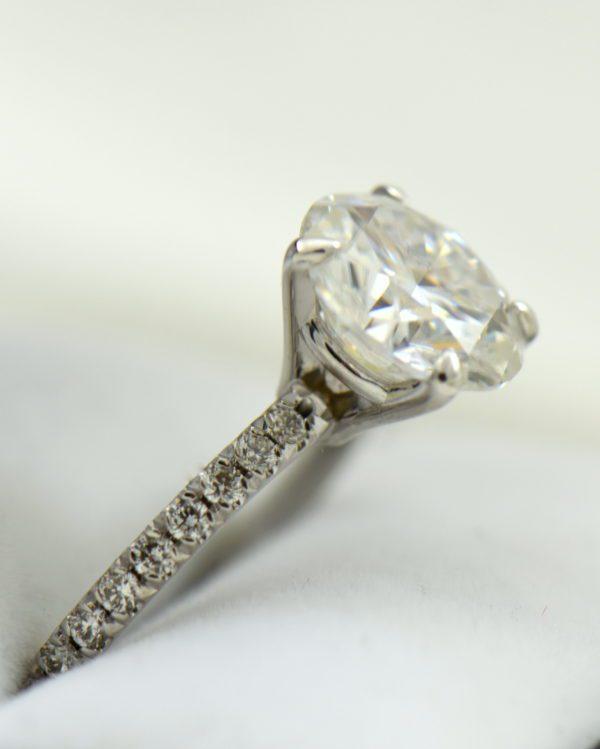 4ct moissanite solitaire engagement ring on thin diamond shank 5.JPG