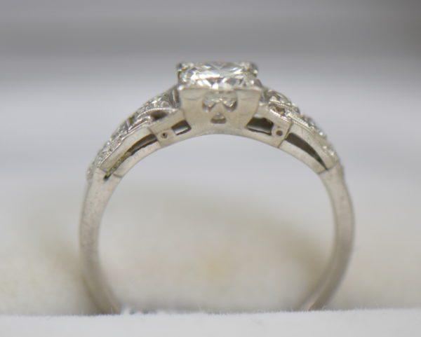 Art Deco Platinum .50ct Diamond Engagement Ring 2.JPG