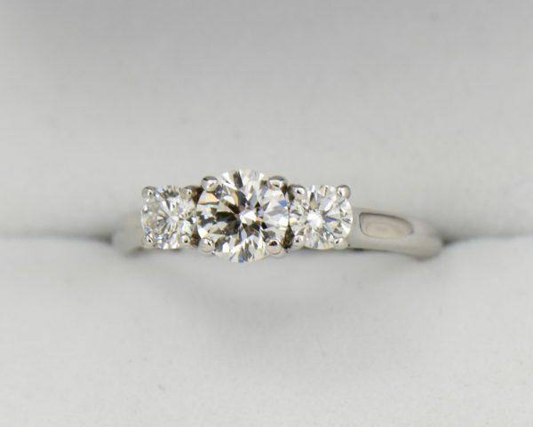 AGS Certified .75ct Diamond 3 stone Ring 2.JPG
