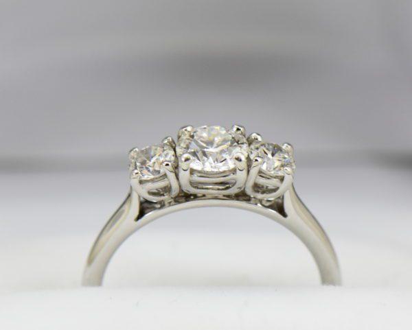 AGS Certified .75ct Diamond 3 stone Ring 3.JPG
