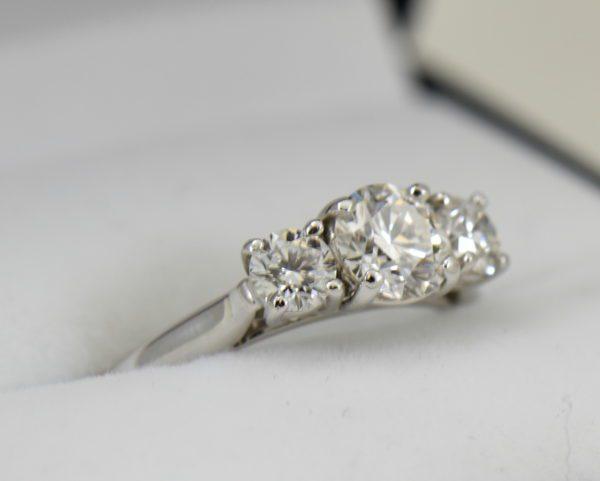 AGS Certified .75ct Diamond 3 stone Ring 4.JPG