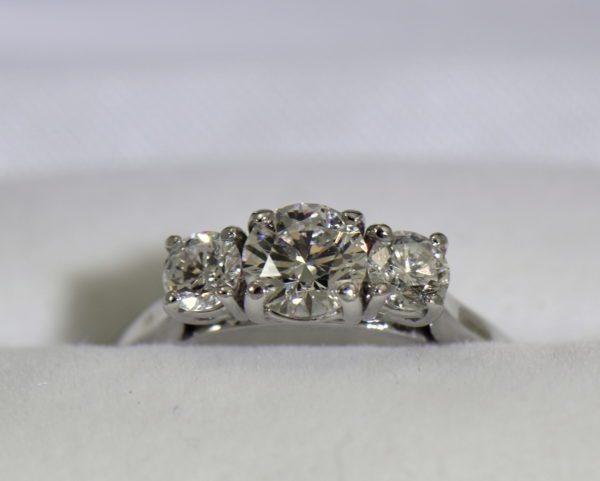 AGS Certified .75ct Diamond 3 stone Ring 5.JPG