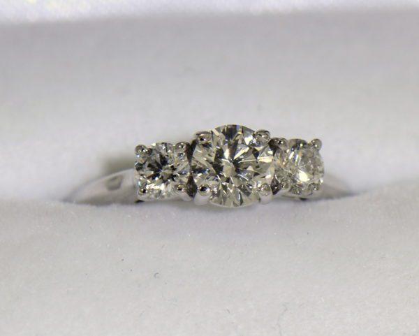 AGS Certified .75ct Diamond 3 stone Ring 6.JPG