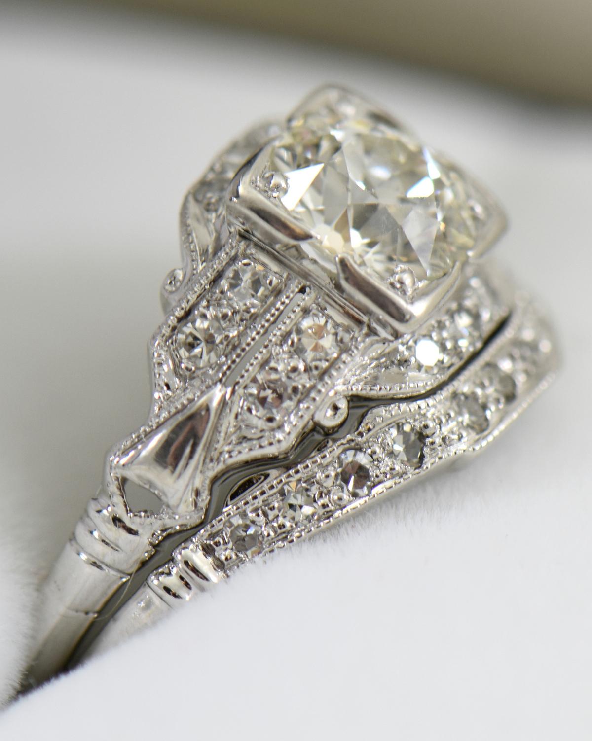 G Art Deco Engagement Ring with Custom Diamond Shadow Wedding Band 4.JPG