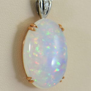 Huge Pinfire Crystal Opal Diamond Pendant in White Rose Gold.JPG