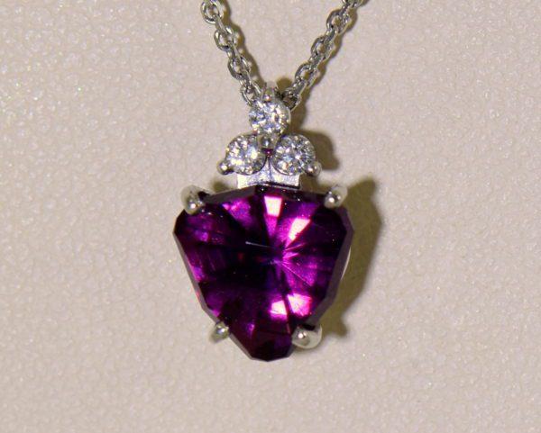 Raspberry Red Rhodolite Pendant Earring Set 4.JPG
