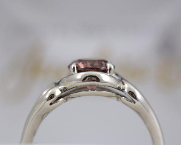 Swirly White Gold Ring with Round Tanzanian Purplish Pink Zircon 3.JPG