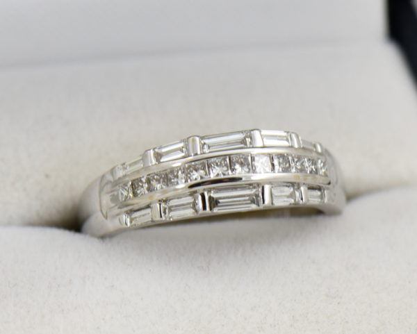 Wide Diamond Channel Band with Princess and Baguettes in 18k.JPG