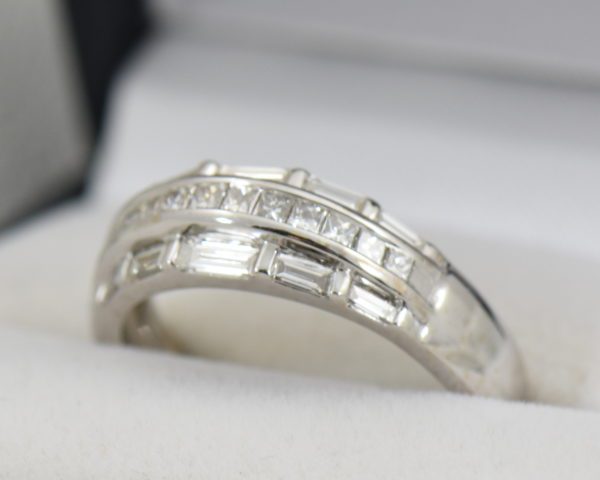 Wide Diamond Channel Band with Princess and Baguettes in 18k 2.JPG
