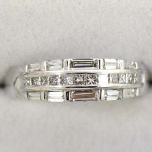 Wide Diamond Channel Band with Princess and Baguettes in 18k 3.JPG