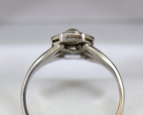 Art Deco Hexagon 2 stone Diamond Ring in Plat and White Gold 6.JPG