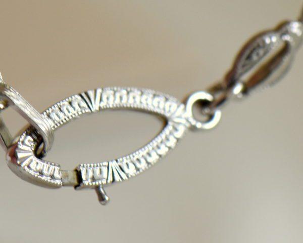 Camphor Glass Diamond Enamel and engraving necklace art deco circa 1930 9.JPG