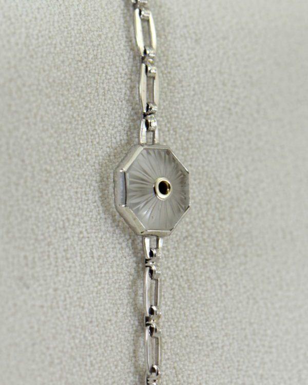 Camphor Glass and Diamond engraved bracelet art deco circa 1930 2.JPG
