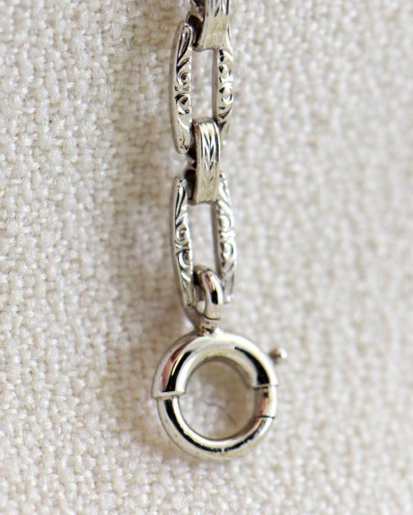 Camphor Glass and Diamond engraved bracelet art deco circa 1930 5.JPG