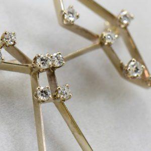 Estate AGA Correa Saggitareus The Archer Constellation Diamond Brooch in white gold 6.JPG
