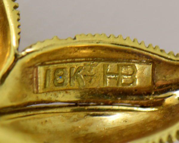 Hammerman Brothers Starfish pendant pin 18k yellow gold 3.JPG