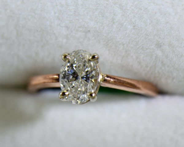 1ct oval diamond solitaire rose gold engagement ring 7.JPG