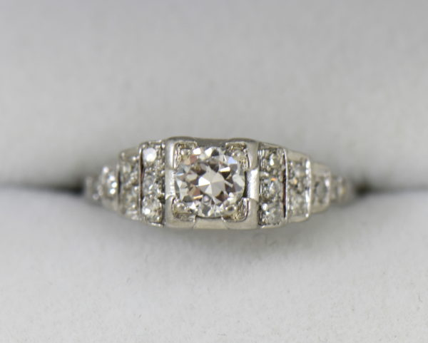 Art Deco .33ct platinum engagement ring with stair step diamond accents 4.JPG