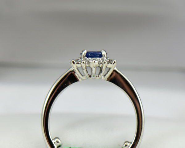 Unheated Round Blue Sapphire Diamond Star Shaped Engagement Ring 6.JPG