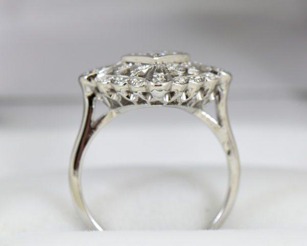 Vintage Diamond Ring .50ct Center Diamond with filigree details in white gold 6.JPG