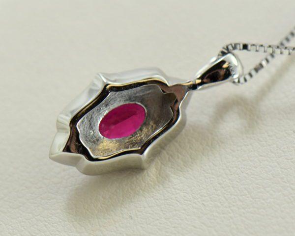 custom vintage style white gold pendant earring set with burmese jedi red spinels 1.JPG