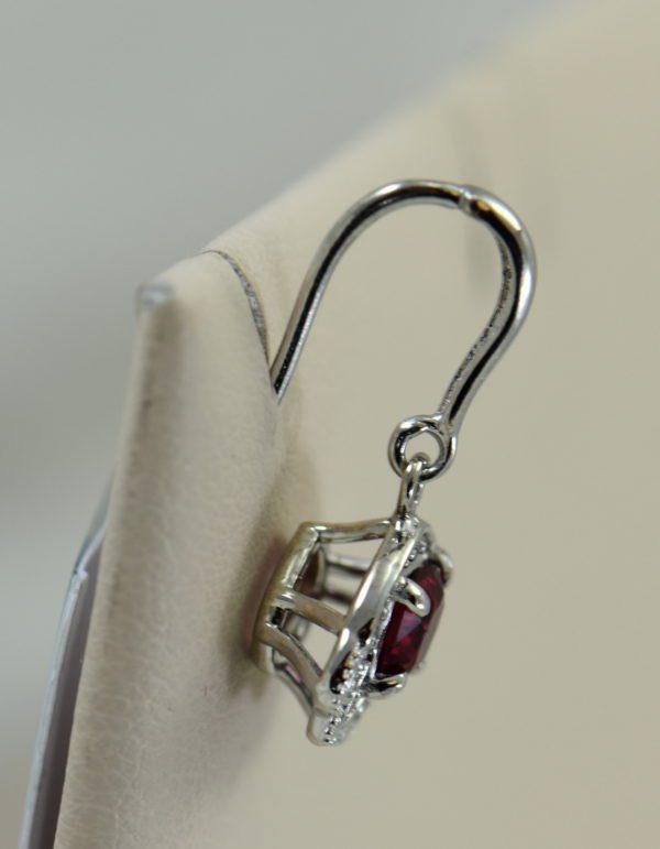 custom vintage style white gold pendant earring set with burmese jedi red spinels 7.JPG