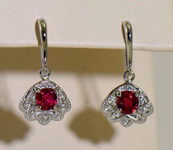 custom vintage style white gold pendant earring set with burmese jedi red spinels 9.JPG